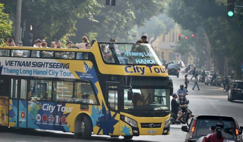 Xe buýt 2 tầng tại Hà Nội: Vietnam Sightseeing Thăng Long Hà Nội City tour