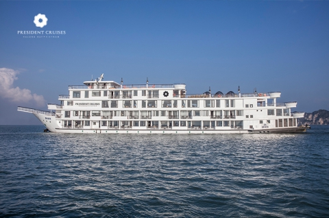 Tour du thuyền Hạ Long President cruise 5 sao tốt nhất
