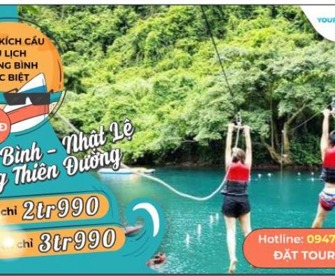 Tour du lịch Quảng Bình - Nhật Lệ - Thiên đường 3N4Đ tàu hỏa