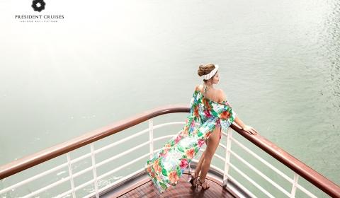 Du thuyền 5 sao tại Hạ Long - President Cruises là siêu du thuyền 5 sao lớn nhất nghỉ đêm trên vịnh Hạ Long