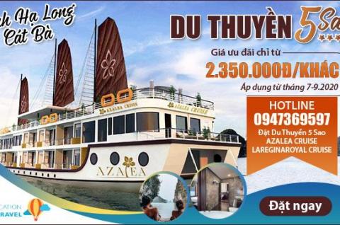 Khám phá Vịnh Lan Hạ trên Du thuyền Azalea Cruise 5 sao