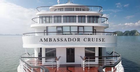 Du thuyền trong ngày AMBASSADOR CRUISE 2 tiêu chuẩn 6 sao tại Hạ Long